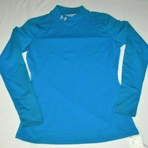Under Armour Coldgear Fitted Long Sleeve Mock Blue